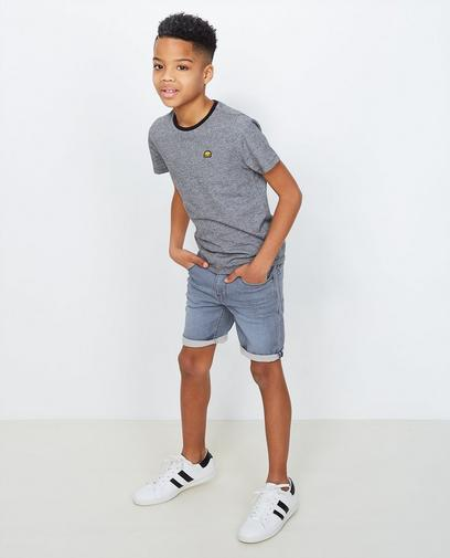 Short en jeans gris